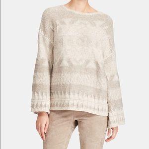Polo Ralph Lauren Italian Yarn Cream Sweater Sz SP